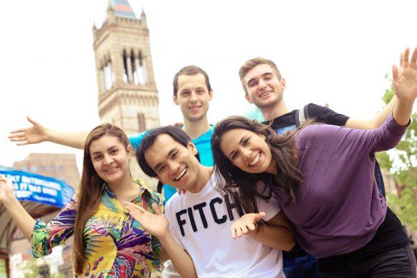 Študenti v Bostone