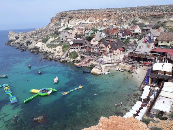 Krásny výhľad na jazykovom pobyte na Malte.