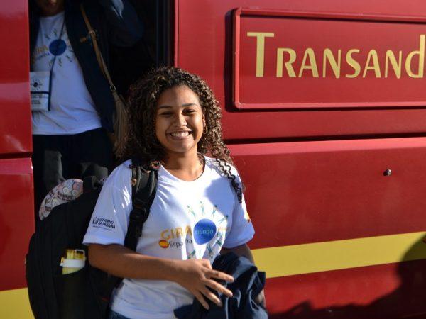 Študentka sa zúčastňuje stredoškolského programu v Andalúzii.