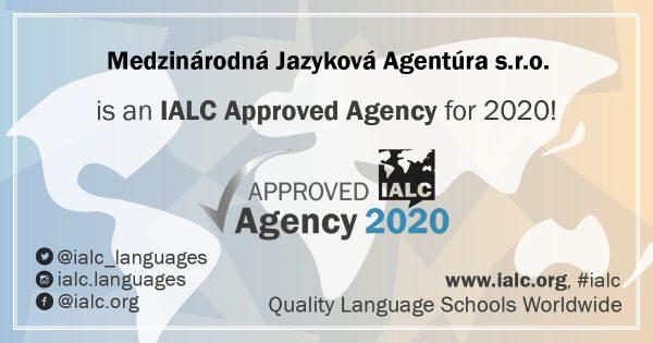 certifikát IALC v tomto roku obdržala aj Medzinárodná jazyková agentúra